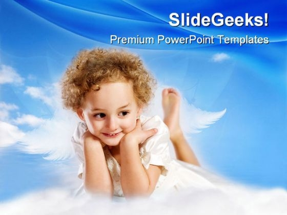 Little Curly Girl Fairy Children PowerPoint Themes And PowerPoint Slides 0511