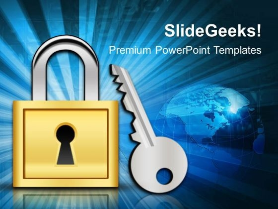Lock And Key Security PowerPoint Templates And PowerPoint Themes ...