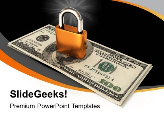 Locked Money Business PowerPoint Templates Ppt Backgrounds For Slides 1212