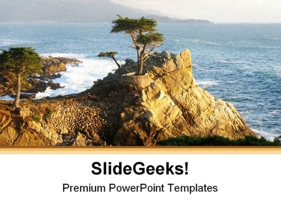Lone Cypress Monterey Beach PowerPoint Themes And PowerPoint Slides 0511