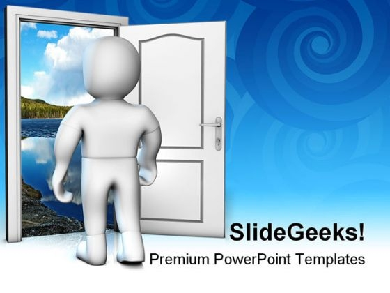 Looking Into The Future Nature PowerPoint Themes And PowerPoint Slides 0411