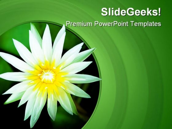 Lotus Flower Nature PowerPoint Templates And PowerPoint Backgrounds 0311