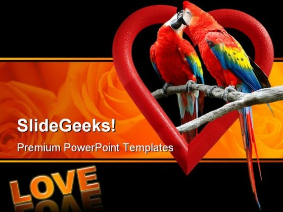 Love Birds Animals PowerPoint Templates And PowerPoint Backgrounds 0311