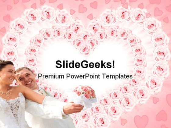 Love Couple Wedding PowerPoint Template 0610