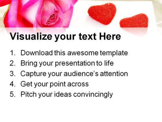 love letter rose wedding powerpoint templates and powerpoint, Powerpoint templates