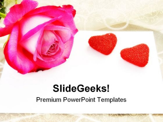 Love Letter Rose Wedding PowerPoint Themes And PowerPoint Slides 0411