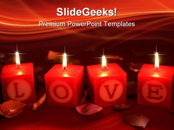 Love Shrine With Candles Beauty PowerPoint Templates And PowerPoint Backgrounds 0711