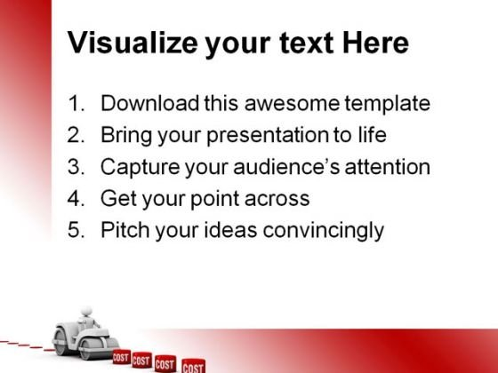 lowering costs sales powerpoint templates and powerpoint, Modern powerpoint