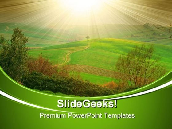 Luce Toscana Italy Nature PowerPoint Themes And PowerPoint Slides 0711