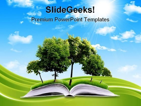Magic Book Nature PowerPoint Templates And PowerPoint Backgrounds 0311