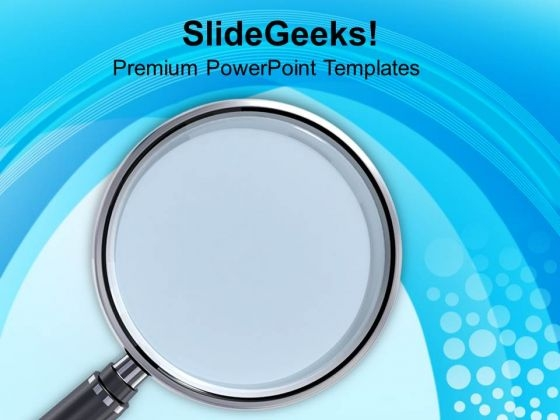 Magnifying Concepts Of Business Approach PowerPoint Templates Ppt Backgrounds For Slides 0413