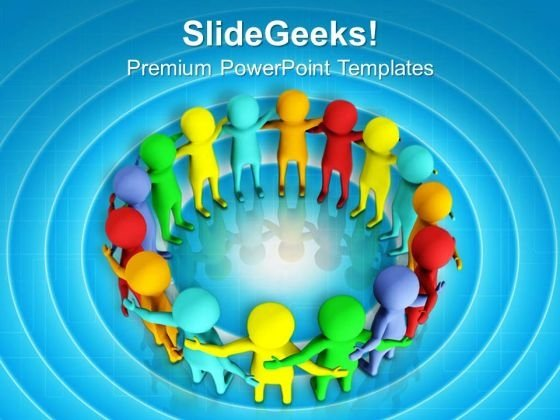 Maintain A Good Circle For Business PowerPoint Templates Ppt Backgrounds For Slides 0613
