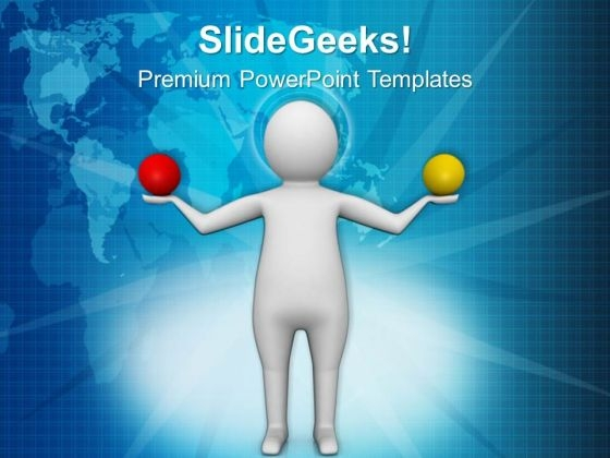 Make A Balance In Life PowerPoint Templates Ppt Backgrounds For Slides 0513