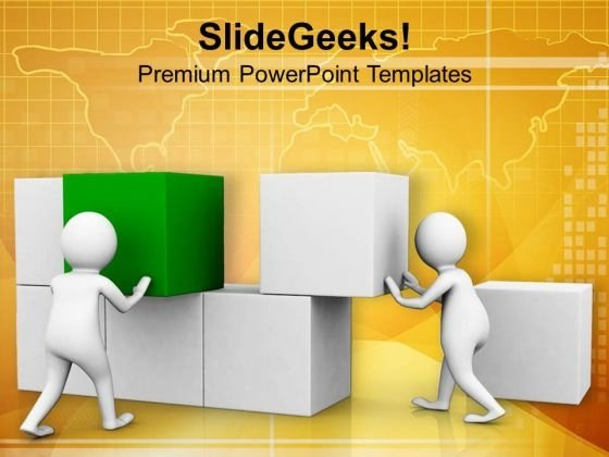 Make A Base With Strong Efforts PowerPoint Templates Ppt Backgrounds For Slides 0713
