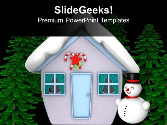 Make A Snowman This Winter PowerPoint Templates Ppt Backgrounds For Slides 0713