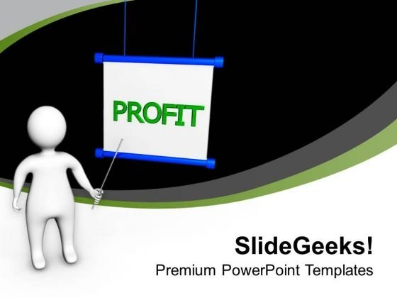 Make A Strategy For Profit In Business PowerPoint Templates Ppt Backgrounds For Slides 0413