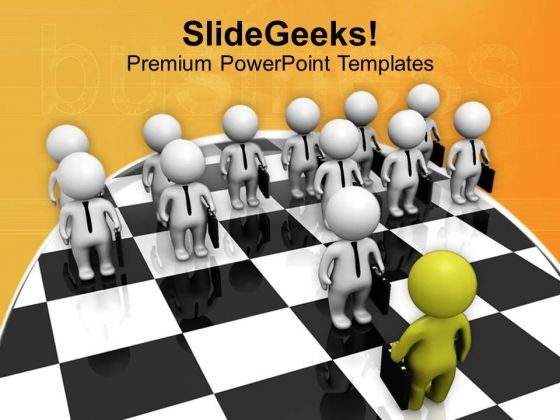 Make A Strategy For Team PowerPoint Templates Ppt Backgrounds For Slides 0713
