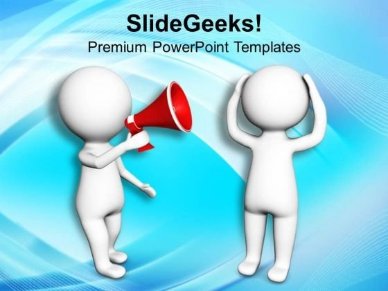 Make An Announcement For Business Rules PowerPoint Templates Ppt Backgrounds For Slides 0813