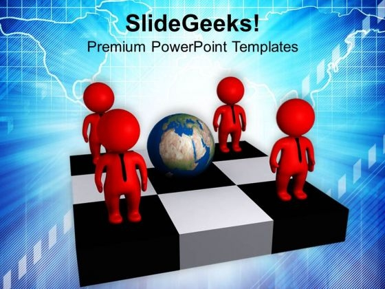 Make Your Empolyee Globaly Trained PowerPoint Templates Ppt Backgrounds For Slides 0713