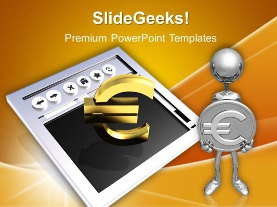 Making Money Online Euros PowerPoint Templates And PowerPoint Themes 1012