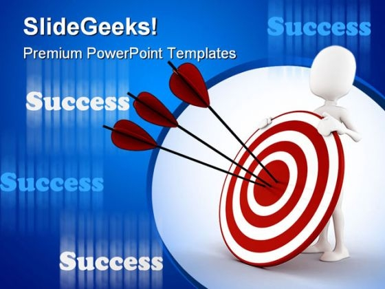 Man Behind Target Success PowerPoint Templates And PowerPoint Backgrounds 0311