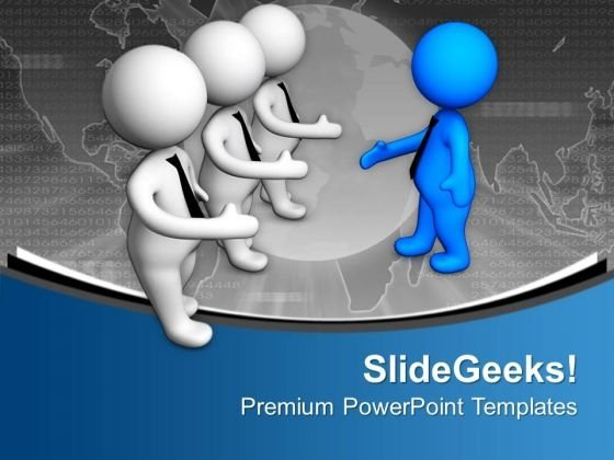 Man Gives His Hand For Handshake PowerPoint Templates Ppt Backgrounds For Slides 0713