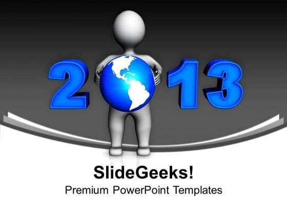 Man Holding Globe Global PowerPoint Templates Ppt Backgrounds For Slides 1212