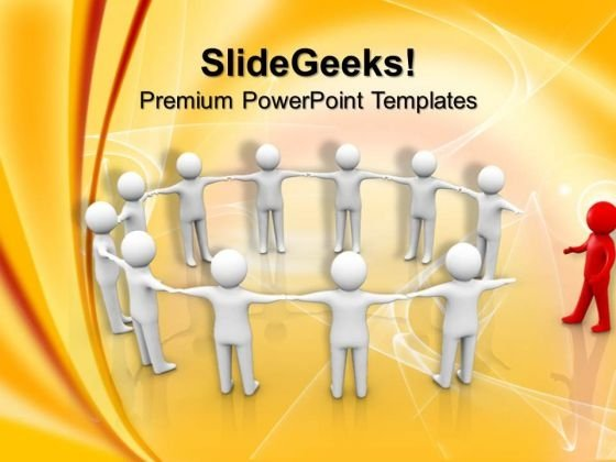Man Joining A Group Of People Handshake PowerPoint Templates And PowerPoint Themes 1012