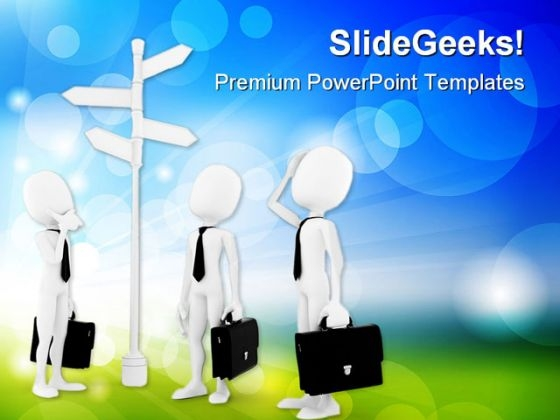 Man Looking Business PowerPoint Templates And PowerPoint Backgrounds 0411