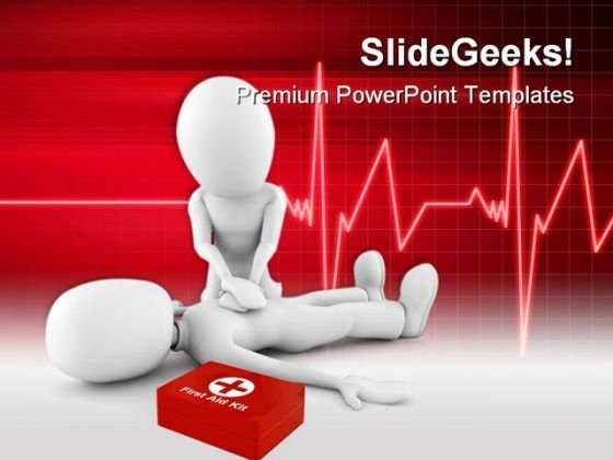 Man Providing First Aid Medical PowerPoint Templates And PowerPoint Backgrounds 0211