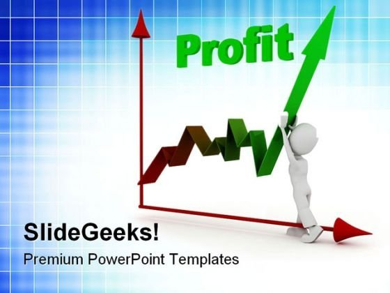 Man Pushing Up Profit Business PowerPoint Themes And PowerPoint Slides 0511