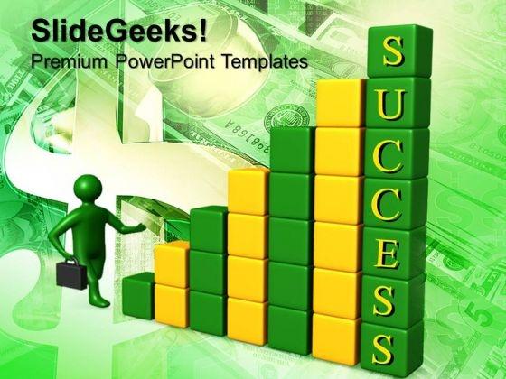 Man Run Towards Profit Success PowerPoint Templates And PowerPoint Themes 0612