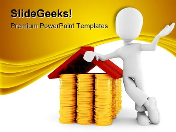 Man Saving Money Finance PowerPoint Templates And PowerPoint Backgrounds 0211