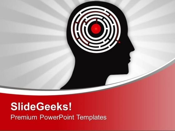 Man Showing His Brain Complexity PowerPoint Templates Ppt Backgrounds For Slides 0213