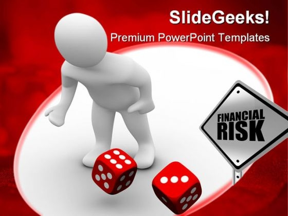 Man Throws Red Dices Finance PowerPoint Themes And PowerPoint Slides 0311