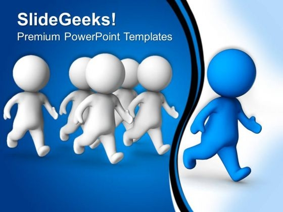 Man Winning Race Competition PowerPoint Templates And PowerPoint Themes 0612