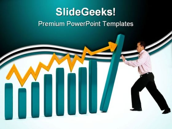 Man With A Graphic Business PowerPoint Themes And PowerPoint Slides 0611