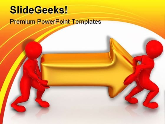 Man With Arrow People PowerPoint Template 0910