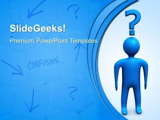 Man With Question Business PowerPoint Templates And PowerPoint Themes 0612