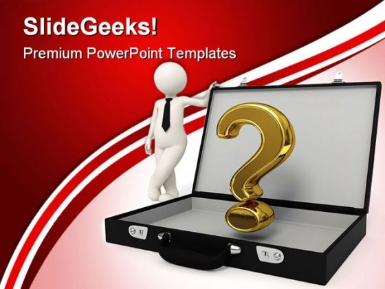 Man With Question Mark Business PowerPoint Templates And PowerPoint Backgrounds 0211