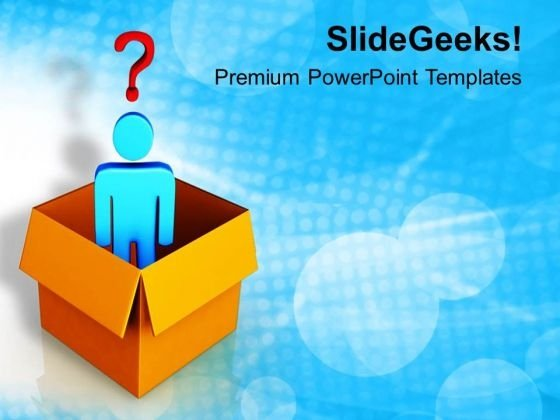 Man With Question Mark PowerPoint Templates Ppt Backgrounds For Slides 0713