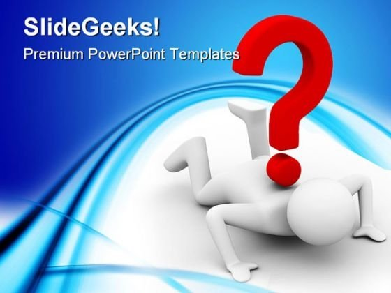 Man With Question Metaphor PowerPoint Templates And PowerPoint Backgrounds 0211