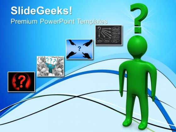 Man With Question People PowerPoint Templates And PowerPoint Themes 0612