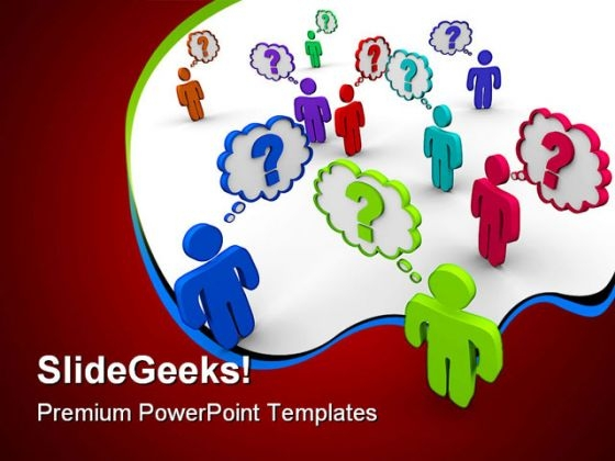 Many People Thinking Communication PowerPoint Templates And PowerPoint Backgrounds 0111