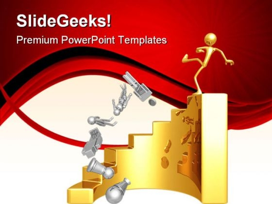 Market Leader Tumbling Business PowerPoint Templates And PowerPoint Backgrounds 0711