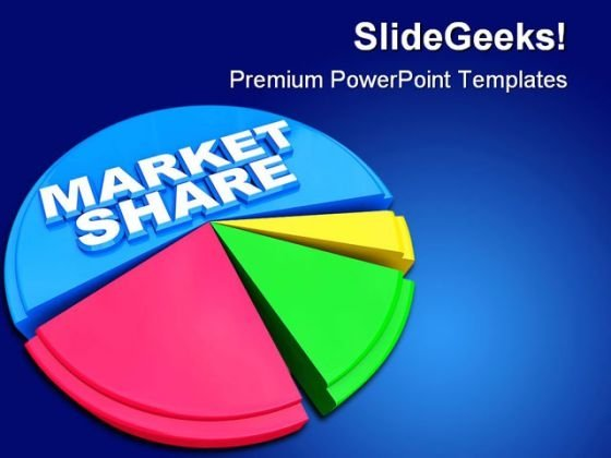 Market Share Marketing PowerPoint Backgrounds And Templates 0111