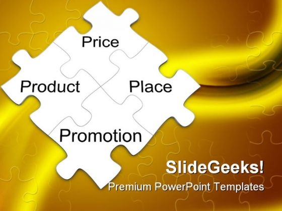 Marketing Mix Puzzle Business PowerPoint Templates And PowerPoint Backgrounds 0911