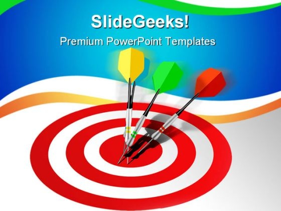 Marketing Target Winner Success PowerPoint Templates And PowerPoint Backgrounds 0711