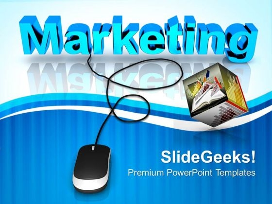 Marketing With Computer Mouse Business PowerPoint Templates And PowerPoint Themes 0812
