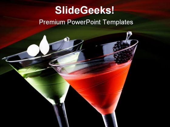 Martini Food PowerPoint Themes And PowerPoint Slides 0411